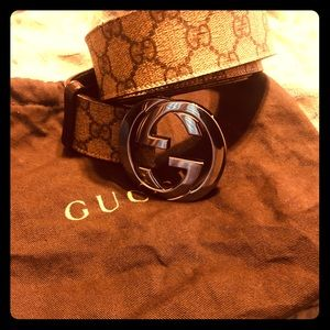 GG Supreme Belt w G Buckle